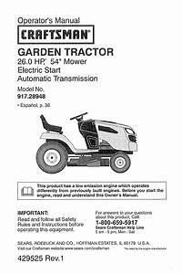 Craftsman Lawn Mower 28948 User Guide