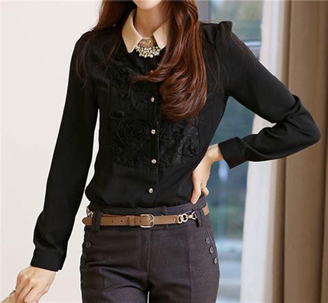 kemeja hitam wanita brokat model terbaru jual murah
