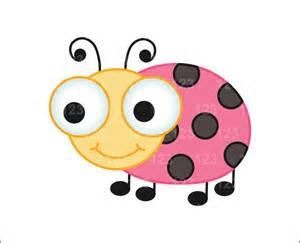 Cute Pink Ladybug Clip Art
