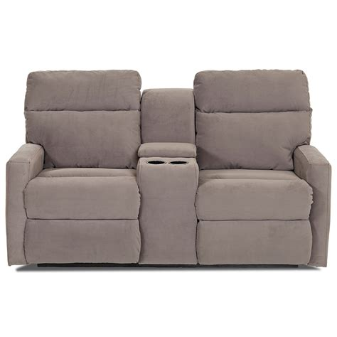 Klaussner Loveseat by Klaussner Monticello Reclining Loveseat With Cupholder