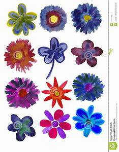 Blumen Bilder Gemalt : set blumen gemalt im aquarell stock abbildung illustration von painterly schicht 27166465 ~ Orissabook.com Haus und Dekorationen