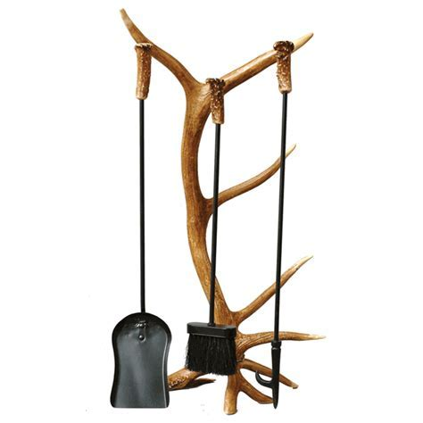 Antler Fireplace Tool Set (4 pcs)