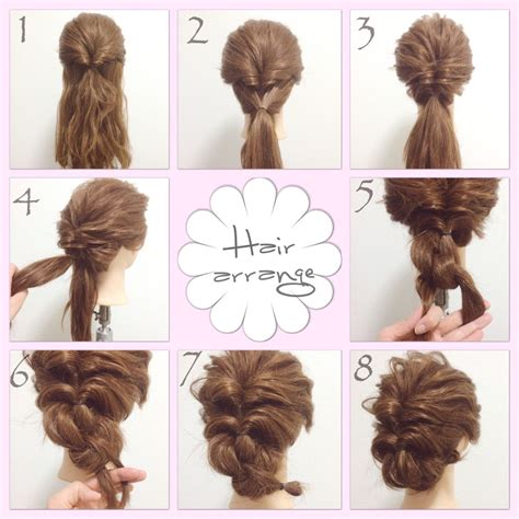 easy hair flips  braid  ends bobby pin