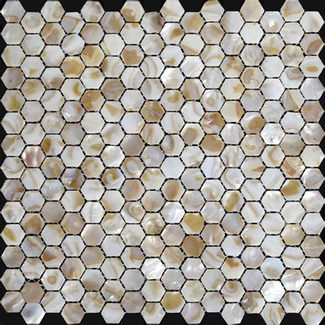 hexagon backsplash tile home depot of pearl shell mosaic hexagon seashell kitchen