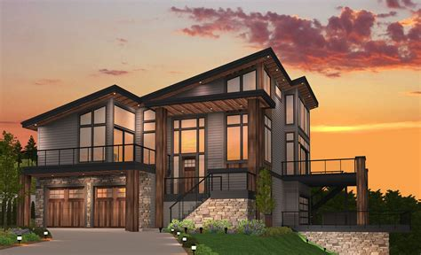 Breathless Shed Roof House Plan by Mark Stewart Home Design