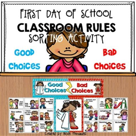 Classroom Rules Sorting Activity {good Choice Bad Choice} By Nicadez  Teaching Resources Tes