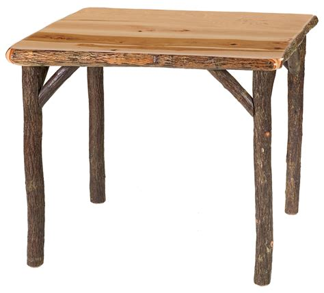 hickory table square traditional w standard finish