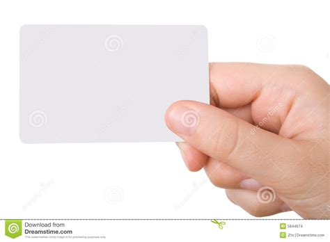 Hand Holding A Business Card Stock Photo