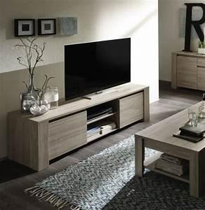 meuble tv couleur chne gris contemporain beryl With meuble bar moderne design 4 meuble table manger couleur chne clair style contemporain