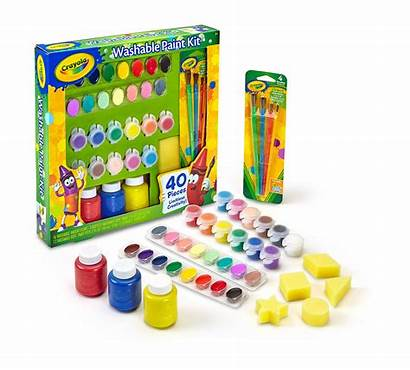 Paint Washable Kit Crayola Walmart Trousse Lavable