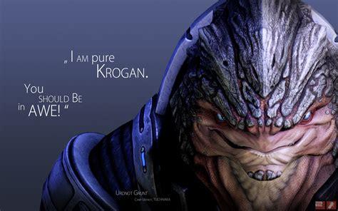Grunt Krogan Mass Effect 2 Quotes Video Games Walldevil