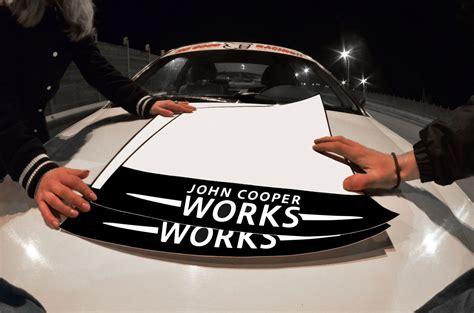 Jcw Mini Cooper One Logo Door Track Number Plate Sticker