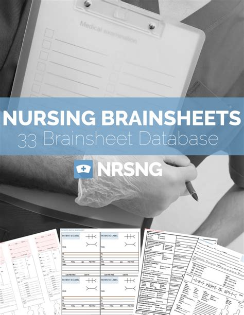 ultimate nursing brain sheet   nurse report