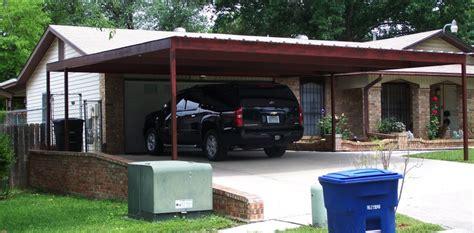 two car attached carport san antonio carport patio
