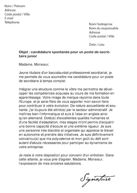 lettre de motivation secretaire debutante lettre de motivation secr 233 taire d 233 butant mod 232 le de lettre