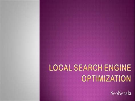 local search engine optimisation local search engine optimization authorstream