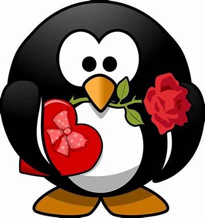Funny Valentine Clip Clipart Penguin Valentines Fun