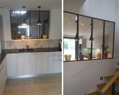cuisine au cuisine avec une verrière nos inspirations