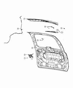 Dodge Grand Caravan Nozzle  Liftgate Washer  Rear Window