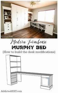 DIY Modern Farmhouse Murphy Bed - How To Build The Desk