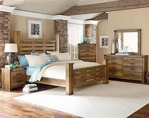 Casual Rugged Brown Pine Wood Bedroom FurnitureMontana