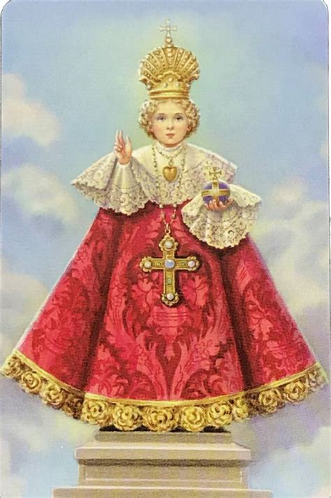 The Infant Of Prague Wallet Prayer Card The Acts Mission
