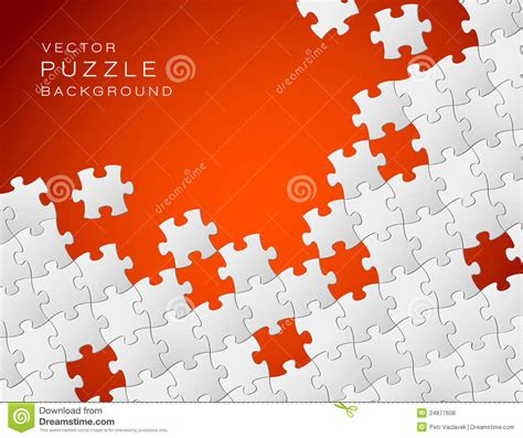 vector red background puzzle pieces stock vector