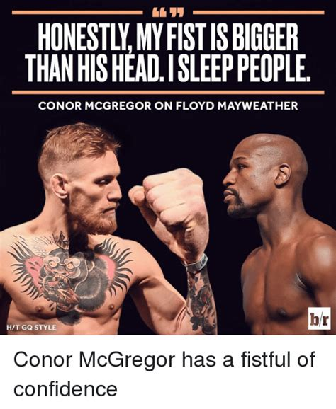 Mayweather Mcgregor Memes - honestly myfistisbigger than hisheadisleep people conor mcgregor on floyd mayweather br hit gq