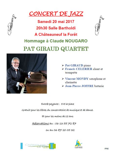 chambre agriculture 87 concert de jazz briance combade