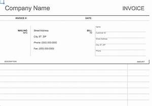 blank invoice paper printable invoice template With personal invoice template