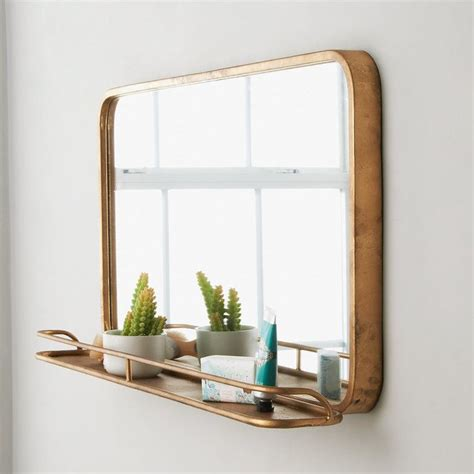 Bathroom Mirror With Shelf by Metal Mirror With Shelf Large Master Bath In 2019