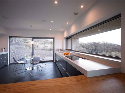 Kitchen, Breakfast Table, Contemporary Home On The Isle Of