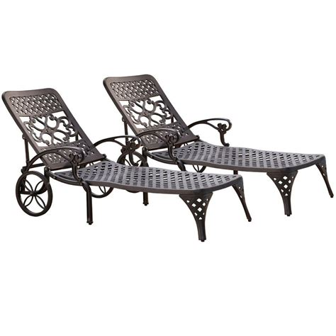 home styles biscayne black patio chaise lounge set of 2