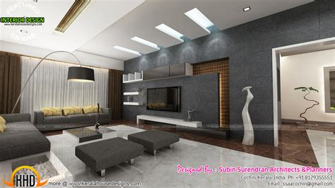 H And H Home Interior Design : Living Rooms, Modern Kitchen Interiors In Kerala
