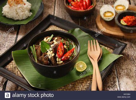 rawon  javanese beef soup  keluak pangium edule
