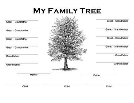 Family Tree Diagram Template Microsoft Word by Family Tree Template Family Tree Template Office 2003