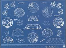 A Signed Buckminster Fuller Geodesic Dome Blueprint, 0919