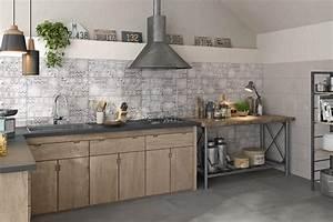 cuisine en carrelage agrandir une cuisine blanche sublime With carreau ciment credence cuisine