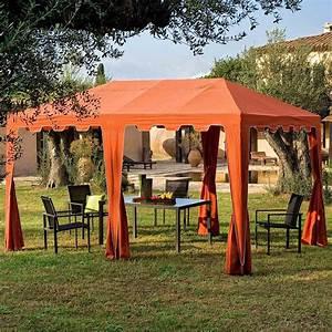 Tonnelle 4 X 3 : tonnelle de jardin cuba toile terracota dim 3m x 4m ~ Edinachiropracticcenter.com Idées de Décoration