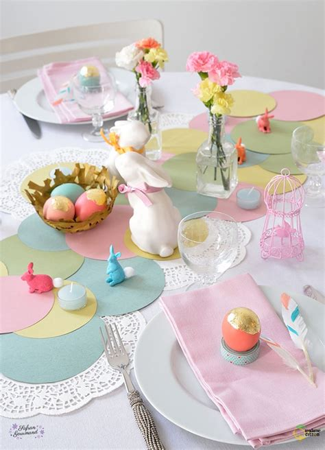 diy table de paques decoration table paques table de