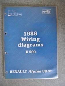 Details About Renault Alpine V6 Gt D500 Wiring Diagrams