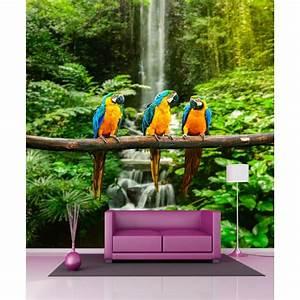 Papier Peint Geant : papier peint g ant perroquets 250x250cm art d co stickers ~ Premium-room.com Idées de Décoration