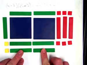 multiplying polynomials using algebra tiles