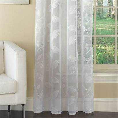 Curtain Grommet Panel Avery Sheer Embroidered Semi