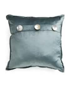 20x20 3 button velvet pillow throw pillows t j maxx