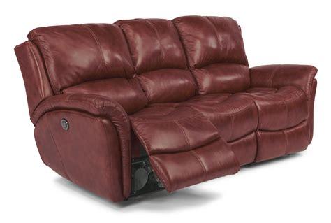 flexsteel leather reclining sofa flexsteel latitudes dominique casual reclining sofa with