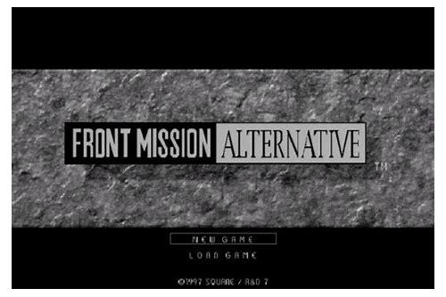 Front mission alternative english download :: niaraforci