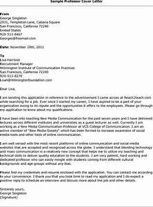 college professor cover letter sample letter of With sample cover letter for teaching position at university
