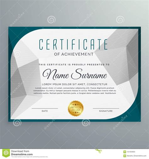 qualification card template creative simple certificate design template with abstract