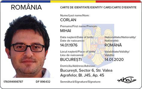 romanian identity card study on behance